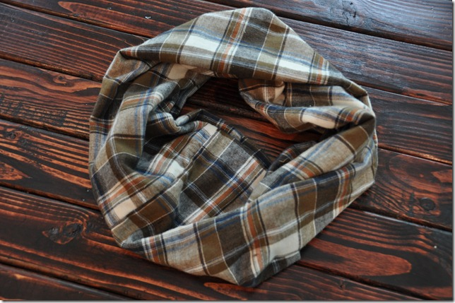 Easy Sew Flannel Infinity Scarf