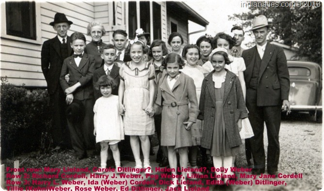 Weber Lieland Ditlinger Cordell Family 1937