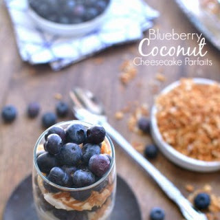 Blueberry Coconut Cheesecake Parfaits