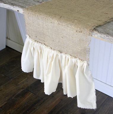 Shabby Creek Cottage ruffled_burlap_table_runner