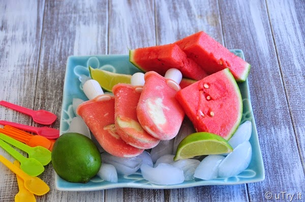 Watermelon and Lime Popsicle  http://uTry.it