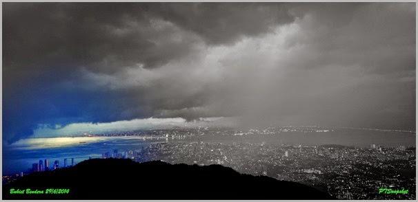 局部有雨的升旗山风景