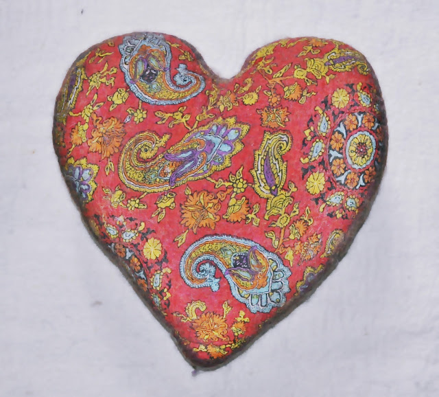 Felt Heart Shape cushion