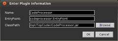 Screenshot-Enter Plugin Information