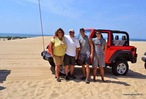 Enjoying a day on the dunes!