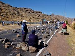 Teachers strike, Puno.