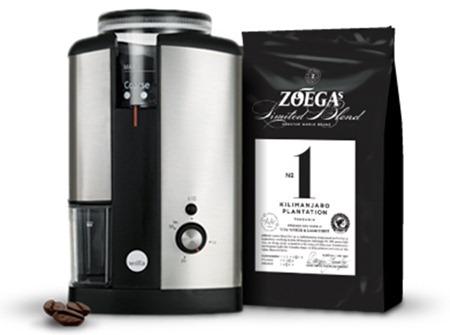 ZOÉGAS Limited Blend No 1 och Wilfa kaffekvarn