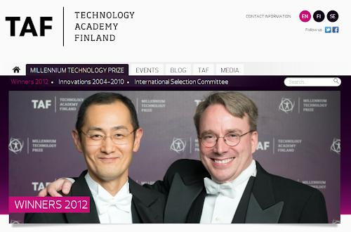 Linus Torvalds il successo del  Millennium Technology Prize è dedicato a tutta la comunità Linux