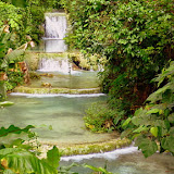 A 5 Tier Waterfall on the Path to the Top at Mele Cascades - Port Vila, Vanuatu