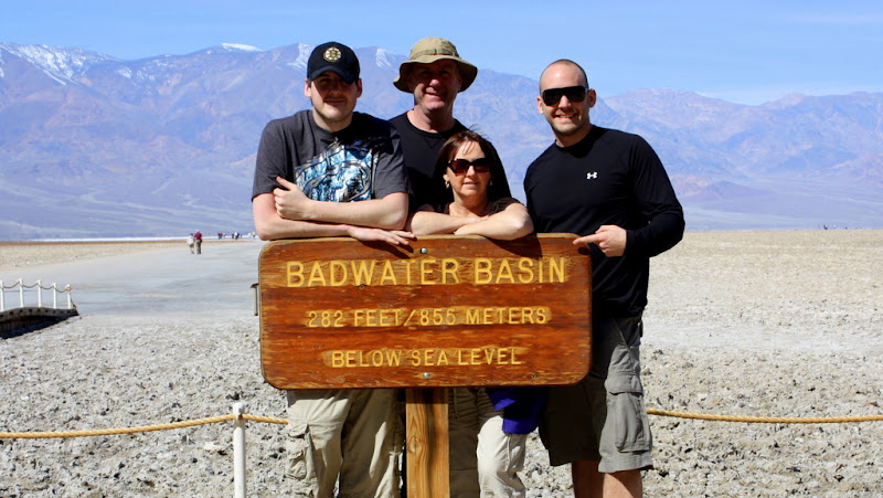 Family Photo at Badwater