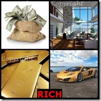 RICH- 4 Pics 1 Word Answers 3 Letters