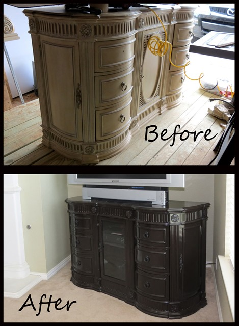 Style with Cents Dresser TV Stand Renovation www.stylewithcents.blogspot.com    Before and After 2