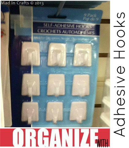 Dollar Store Self Adhesive Hook