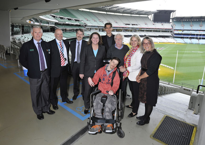 Changing Places announcement at the MCG