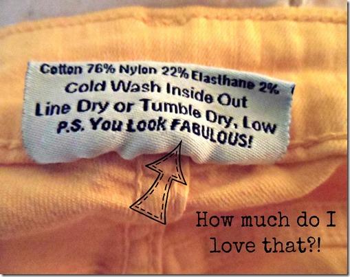 Skinny Jeans Tag
