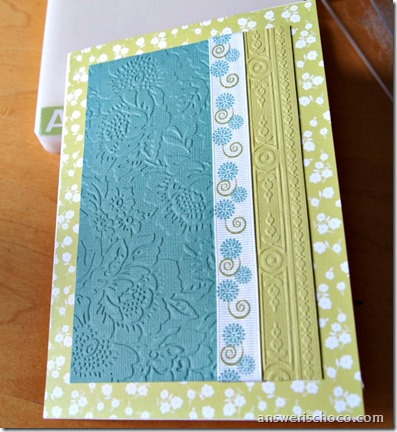 Cuttlebug Embossed Panel