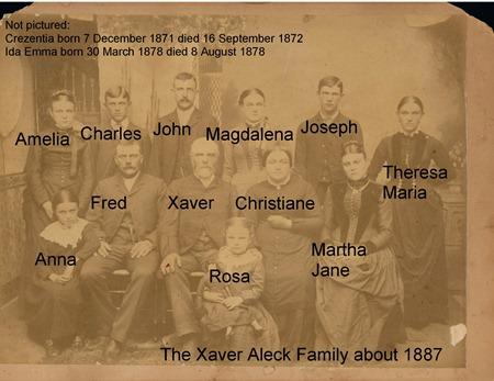 Xaver Aleck Family