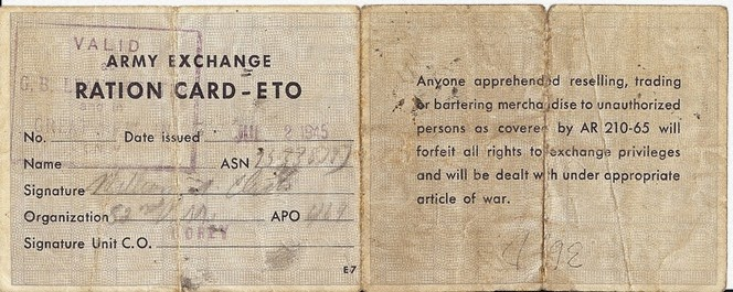 Bill Ration Card Front
