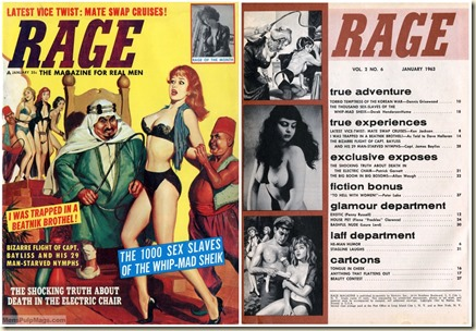 RAGE, January 1963, cover & contents page