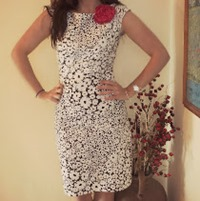 black and white dress 210