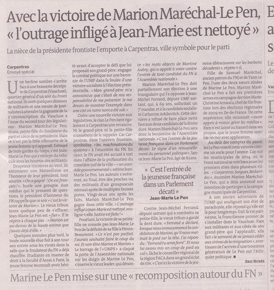 Maréchal Le Pen Carpentras
