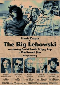 big lebowski poster frank zappa retro
