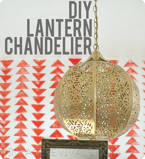 Candle Lantern To Chandelier In 3 Easy Steps Vintage Revivals – Do It Yourself Chandelier