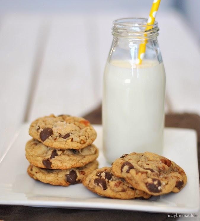 Dark Chocolate Chip Pecan Cookies with Sea Salt