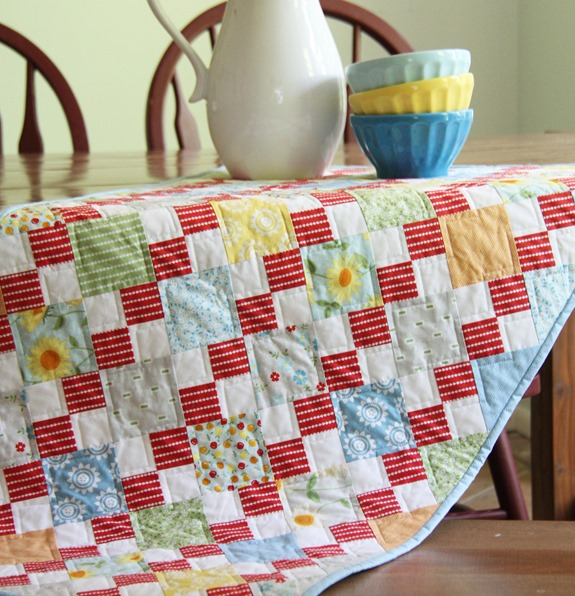 Oh Clementine Table Runner, Quilts and More