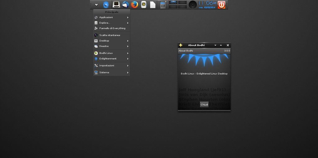 Bodhi Linux 3.0 / Enlightenment E19 in Ubuntu 14.04 Trusty
