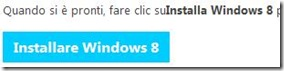 Pulsante Installare Windows 8