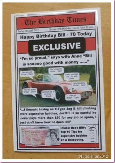 E Type J Birthday Card