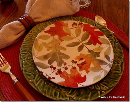 Fall Place Setting @ A Walk in the Countryside & A Walk in the Countryside: Fall Breakfast Table