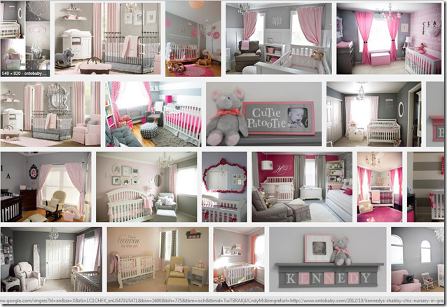 pink and gray nurseries