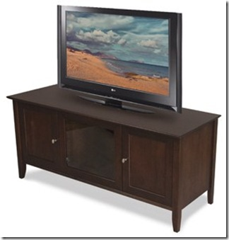 Isabelle Collection tv console in onyx finish