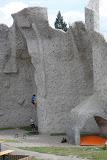 The rock climbing wall at Areal Gutova