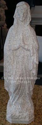Mary Our Lady of Lourdes, H37 California White Granite.