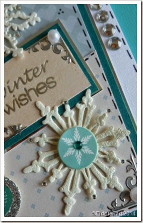 jewelled snowflake christmas card