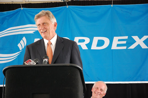 AR. Gov. Mike Beebe at Nordex ground-breaking