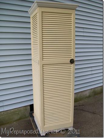 repurposed shutter cupboard