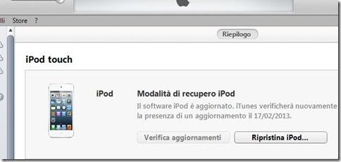 Modalità di recupero Ripristina iPod/iPhone/iPad