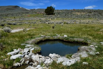 natural hot spring at Hart Mountain Refuge near Hot Springs Campground