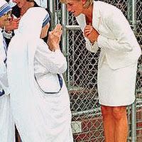 Madre Teresa con Lady Diana