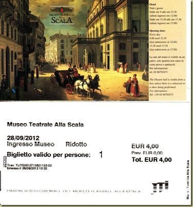 La Scala Museum Tickets