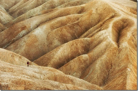 Photographer, Badlands, Death Valley, CA