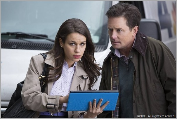 Ana Nogueira and Michael J. Fox in THE MICHAEL J. FOX SHOW. CLICK to visit the official show site.