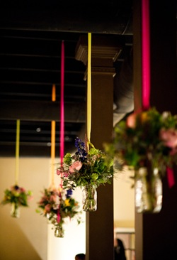 Savannah Wedding, hanging mason jars