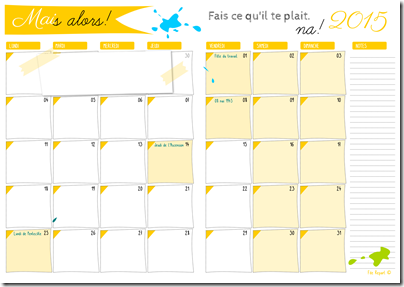 agenda mensuel - 05 mai 2015
