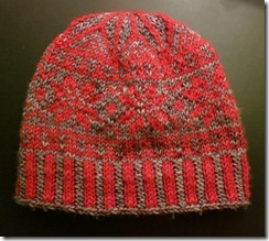 Faux Fair Isle Hat - Complete