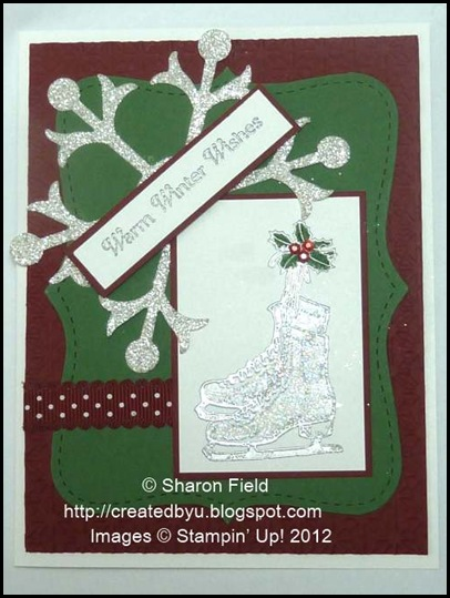 winter memories and silver skates christmas card